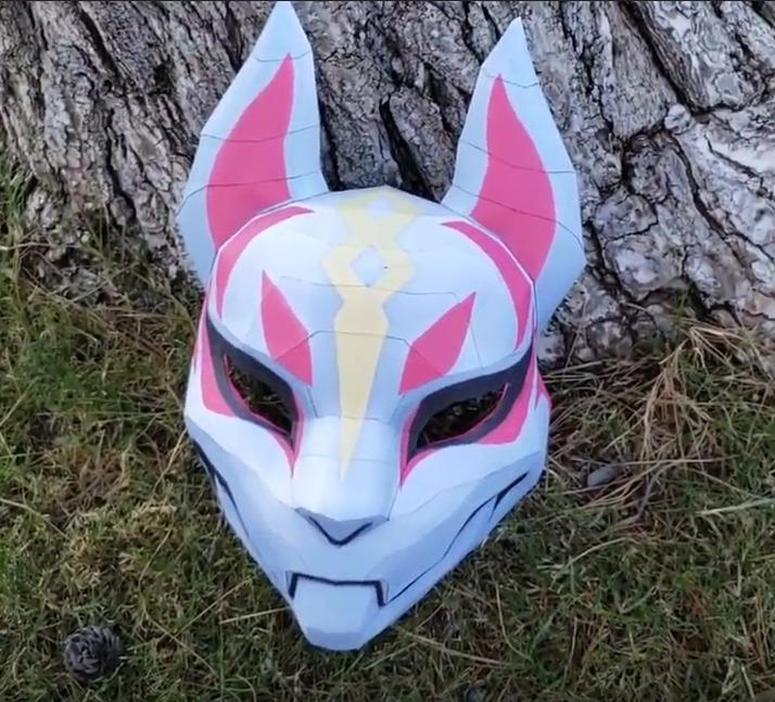 Mascara Fortnite Plantillas Para Armar 3d Papercraft