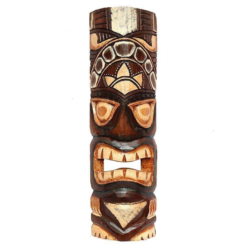 Mscara Totem Tiki Carranca Hawaiana  Havaiana 50cm Bali