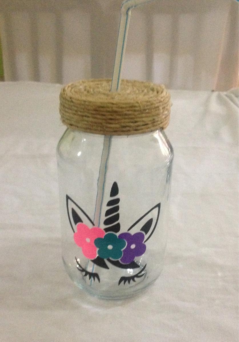Mason Jars Unicornio Etiqueta Vasos Fiesta Decoracion