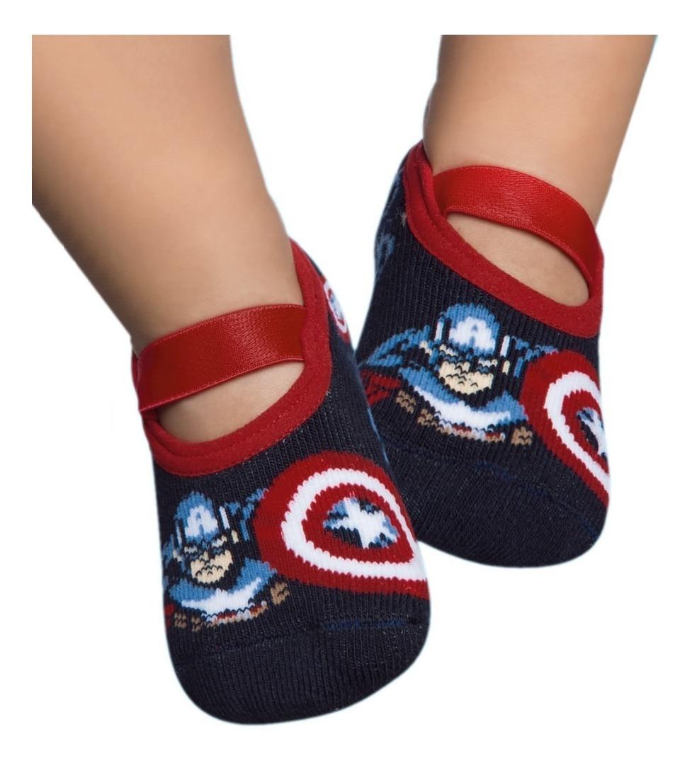 meia infantil sapatilha capitão