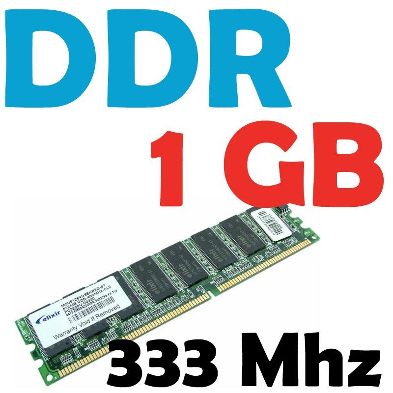 Memoria Ram 1 Gb Ddr 333 Mhz Pc-2700 Para Pc Garantizadas - $ 138.00 en Mercado Libre