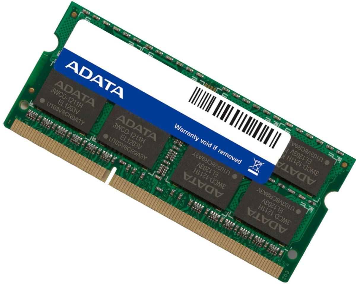 Memoria Ram Ddr3 8gb 1333mhz Adata Ad3s1333w8g9-s Laptop - $ 979.00 en Mercado Libre