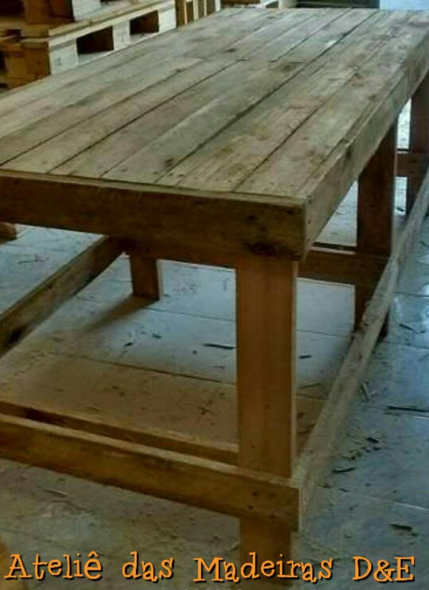 Mesa Bancada Rstica Palete Madeira Eucalipto Nova 180m  R 34900 em Mercado Livre