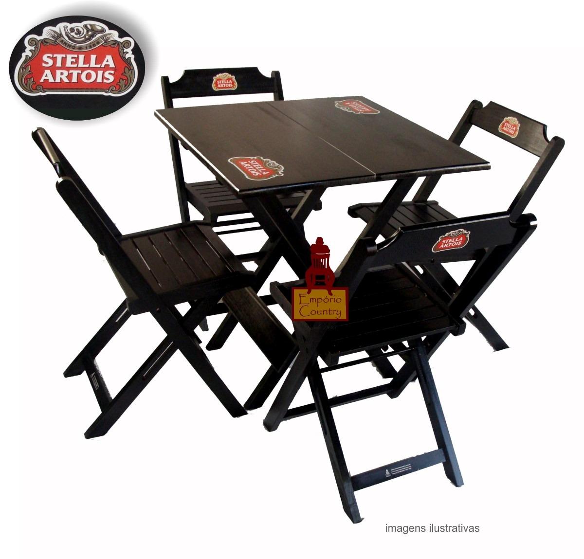 Mesa Bar 70x70 Com Logo C4 Cadeiras Dobrveis