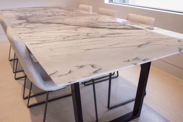 Mesa Comedor Marmol Carrara   3480000 en Mercado Libre