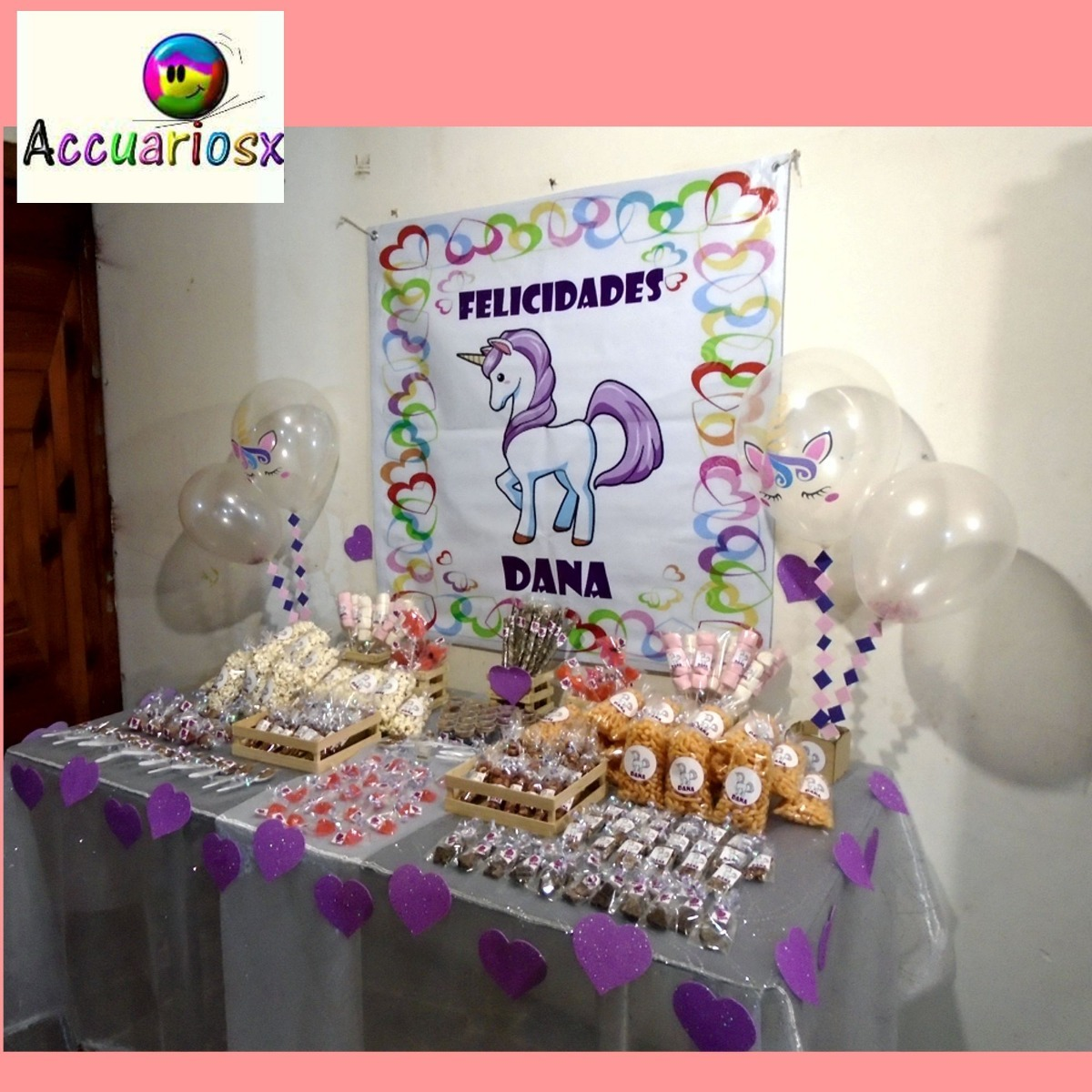 Mesa De Dulces 100 Personas Dulces Y Lona Personalizada