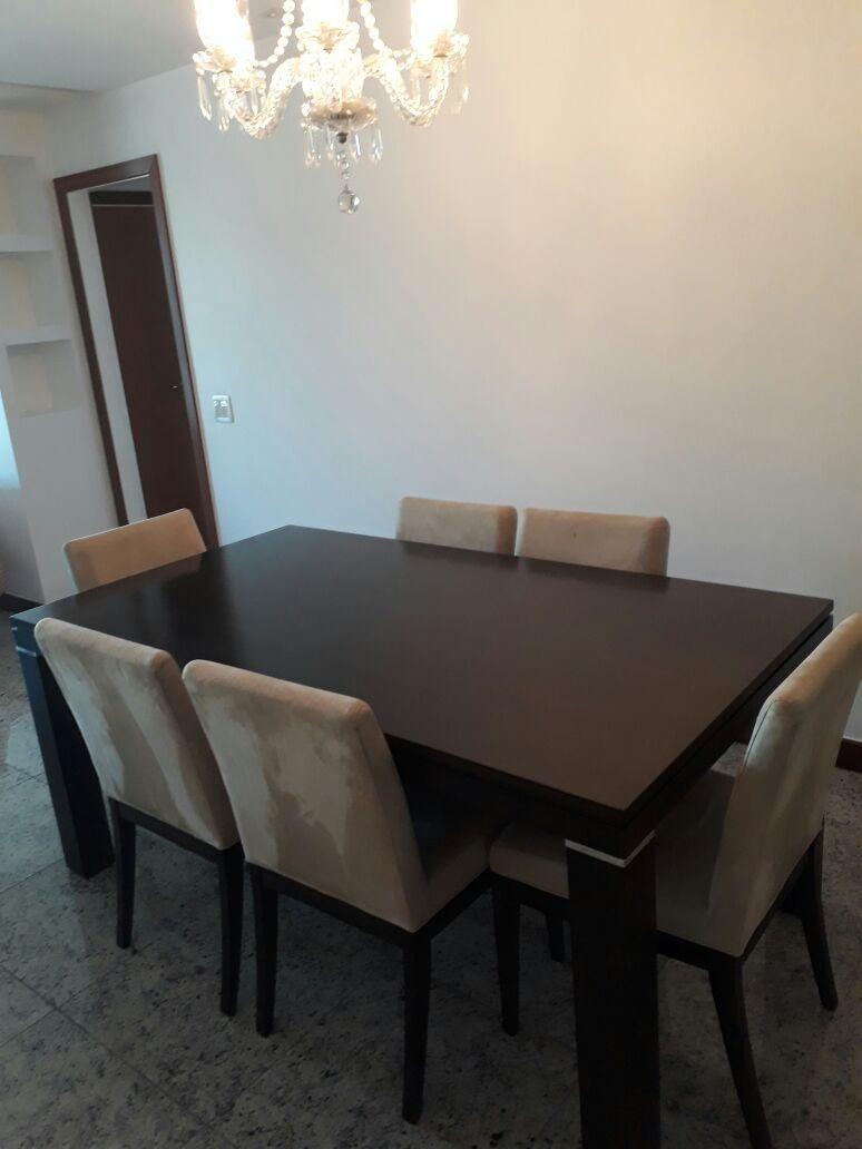 Mesa De Jantar 6 Lugares Com 6 Cadeiras Usada  R 1499