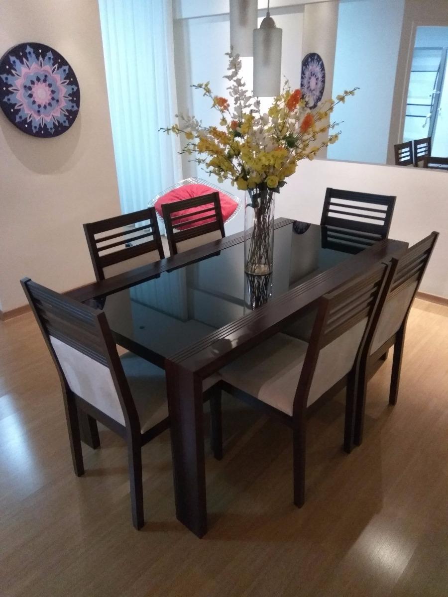 Mesa De Jantar De Madeiravidro  6 Cadeiras  R 199000