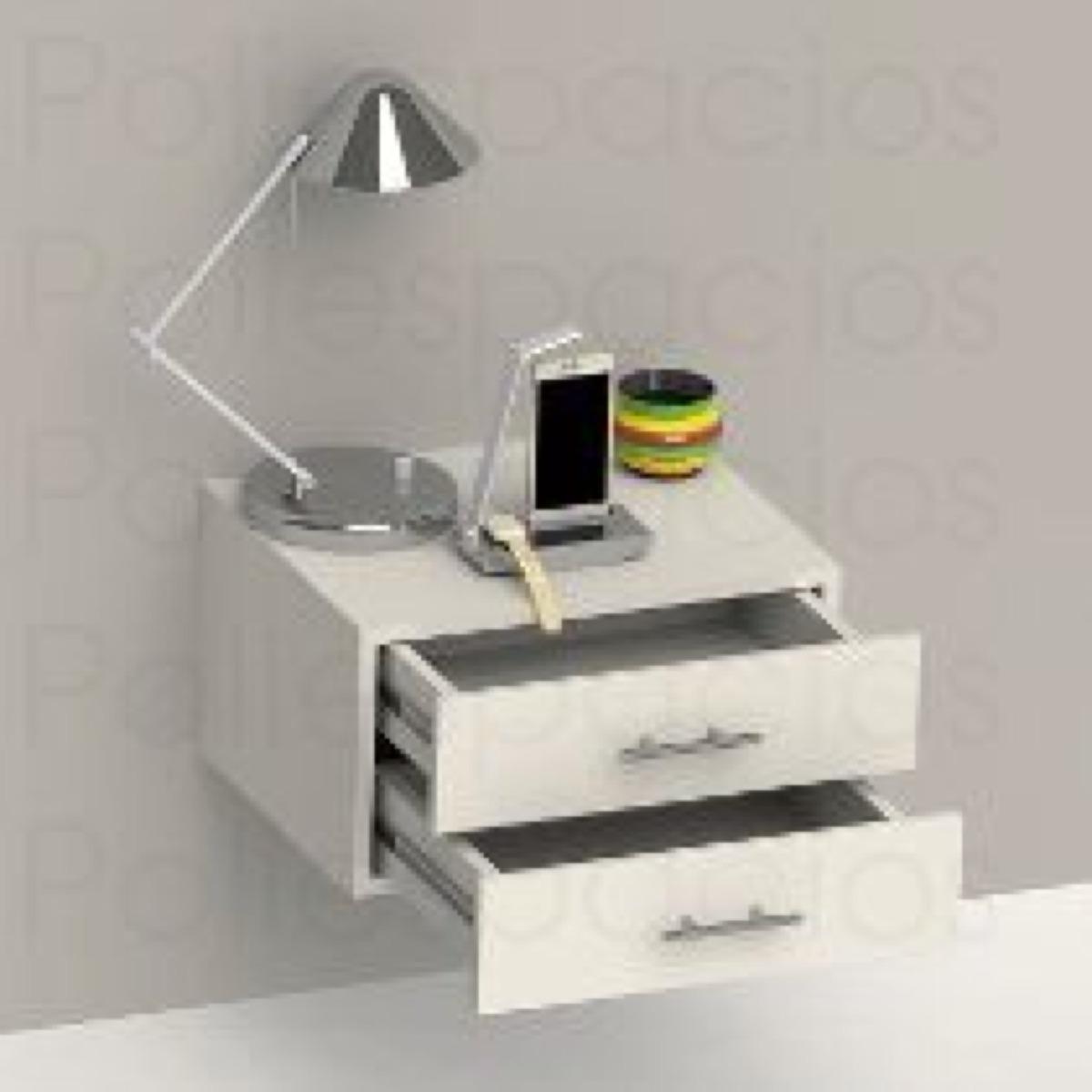 Mesa De Noche Flotante Minimalista  Bs 350 en Mercado Libre