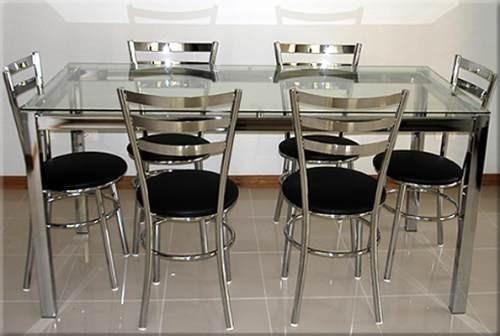 Mesa De Jantar Em Ao Inox  R 79000 em Mercado Livre