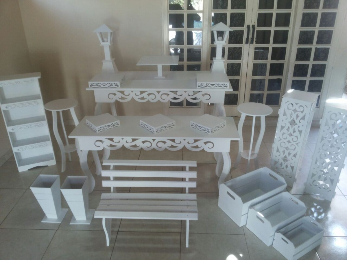 Mesa kit Provenal Mdf Pintado Completo  R 119900 em Mercado Livre
