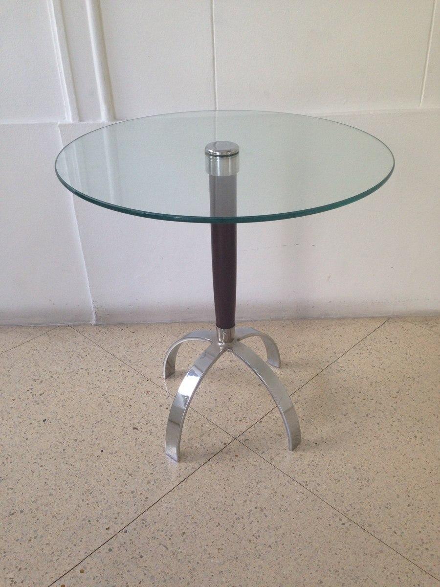 Mesa Lateral De Vidromadeira E Ps Em Ao Inox  R 38000 em Mercado Livre