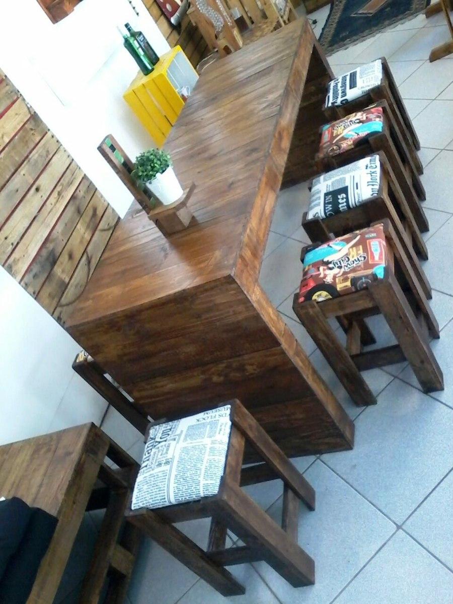 Mesa Madeira Pallet Varanda Gourmet Sacada Com 06