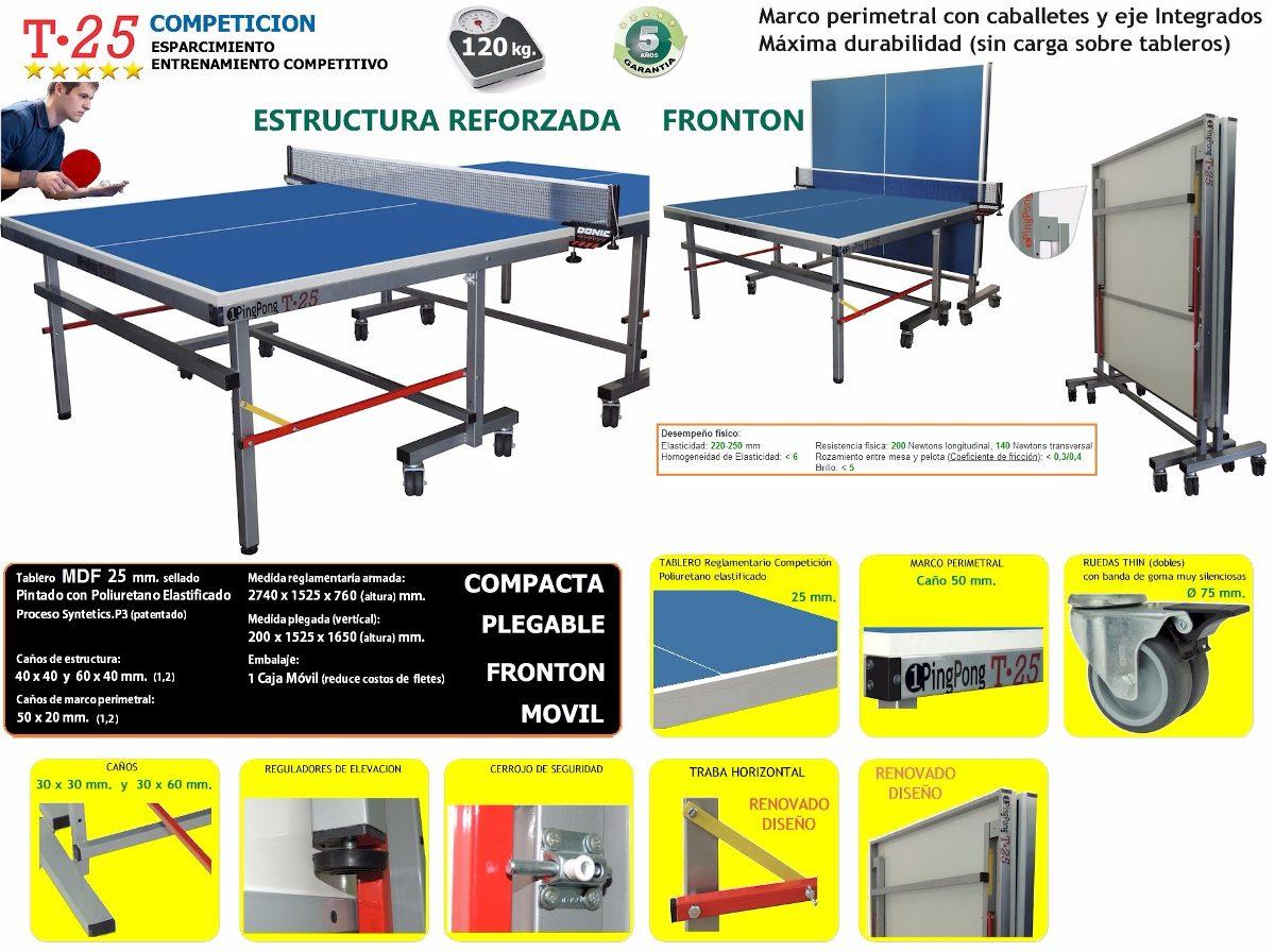 7d932b780 Incluye Red Mesa De Ping Pong T25 Competición 1pingpong