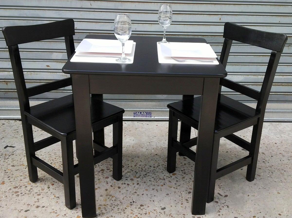 Mesa Y Sillas Bar Confiteria Resto Laqueado Poliuretanico   229000 en Mercado Libre
