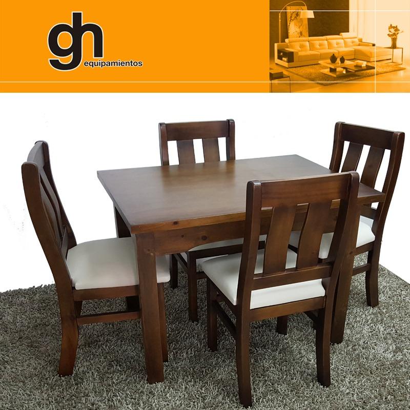 6 Para Comedor Mesa Of Gh Cocina Maciza Year En Sillas ...