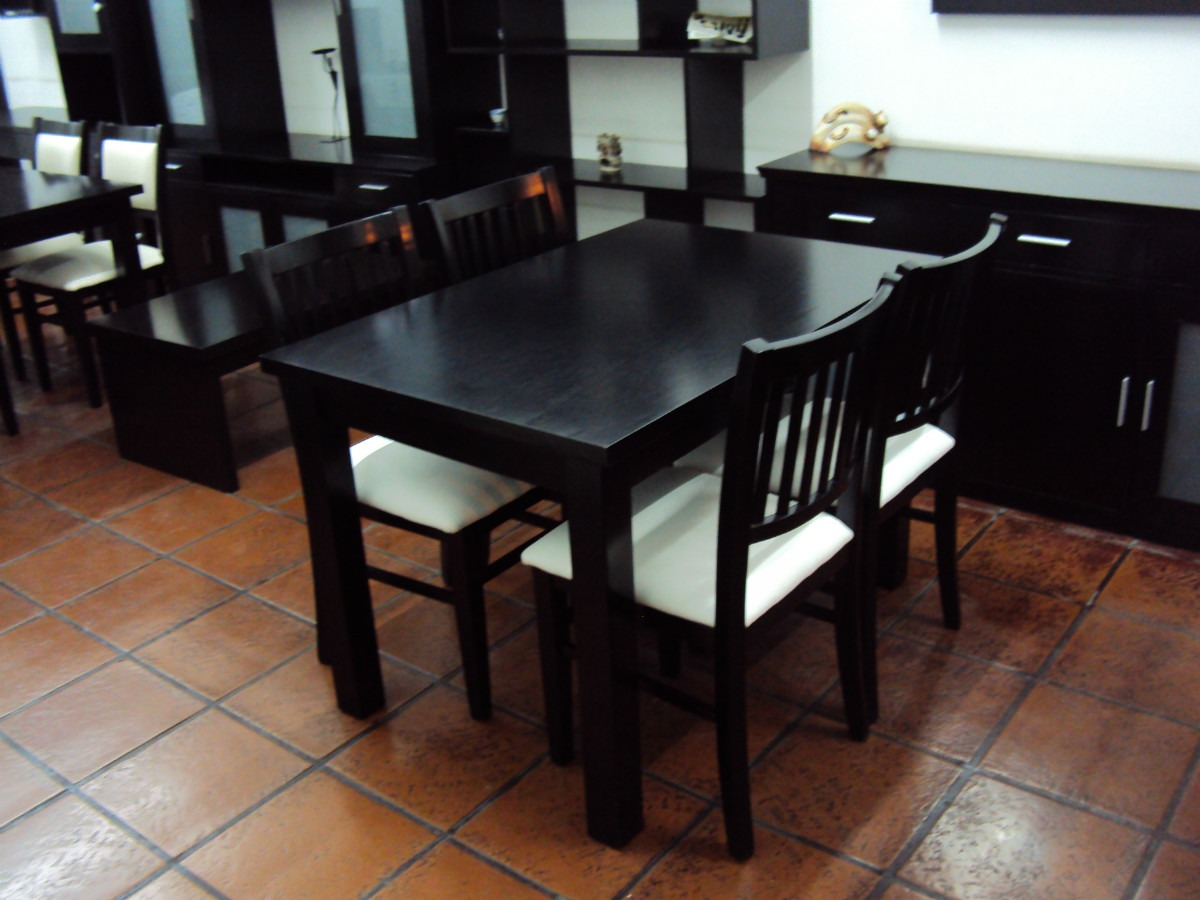 Mesas Comedor Madera Guatambu 110x70cm Extensible   9