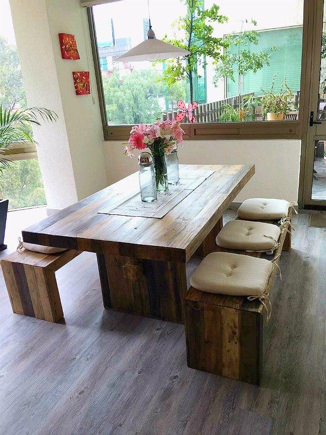 Mesas Comedor Rsticas Vintage Sustentable Atu Medida 6