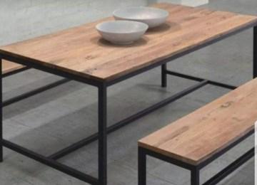Comedor De Madera Y Herreria | Muebles Artesanales Hauss