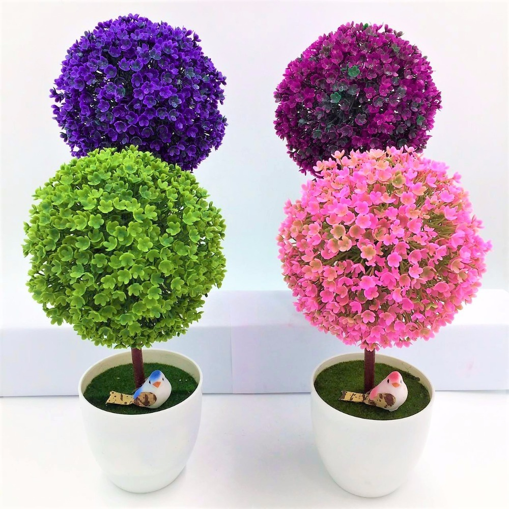 Mini rbol Artificial Decoracin Hogar Flores Bonsai
