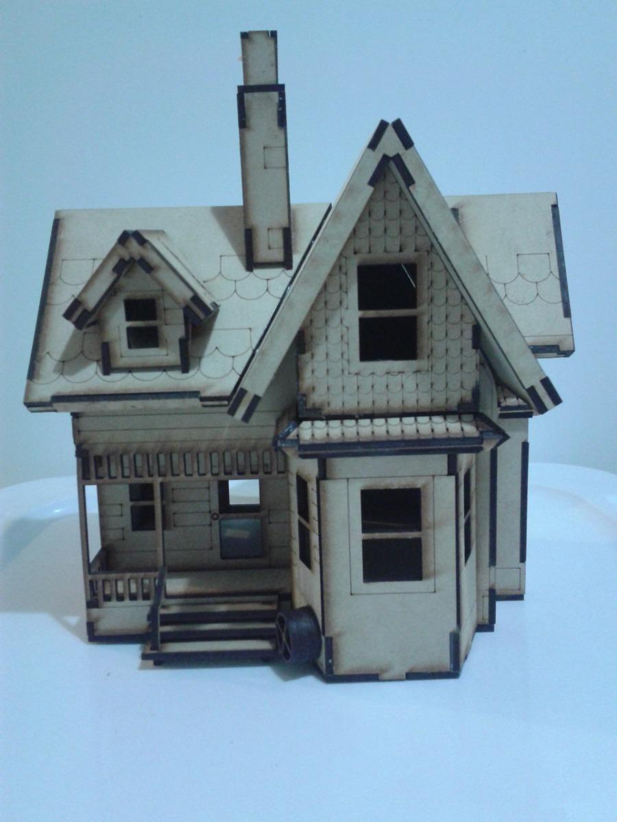 Modelo Casa Up Hecho En Madera Mdf Rompecabezas 3d   39000 en Mercado Libre