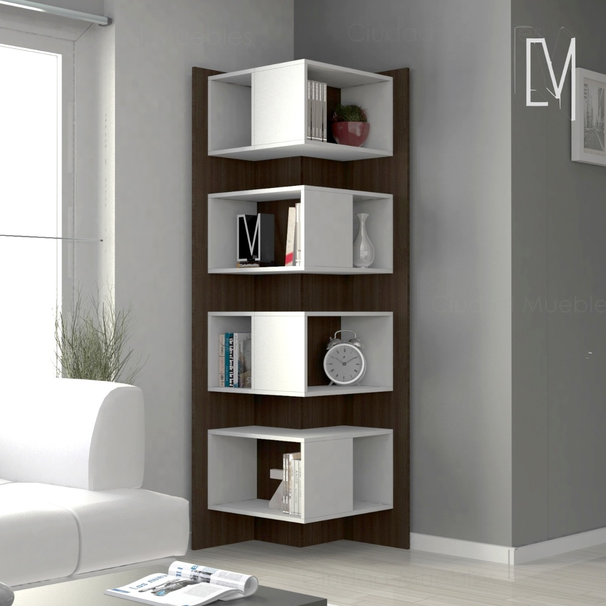 Modular Esquinero Biblioteca Estanteria Ciudad Muebles