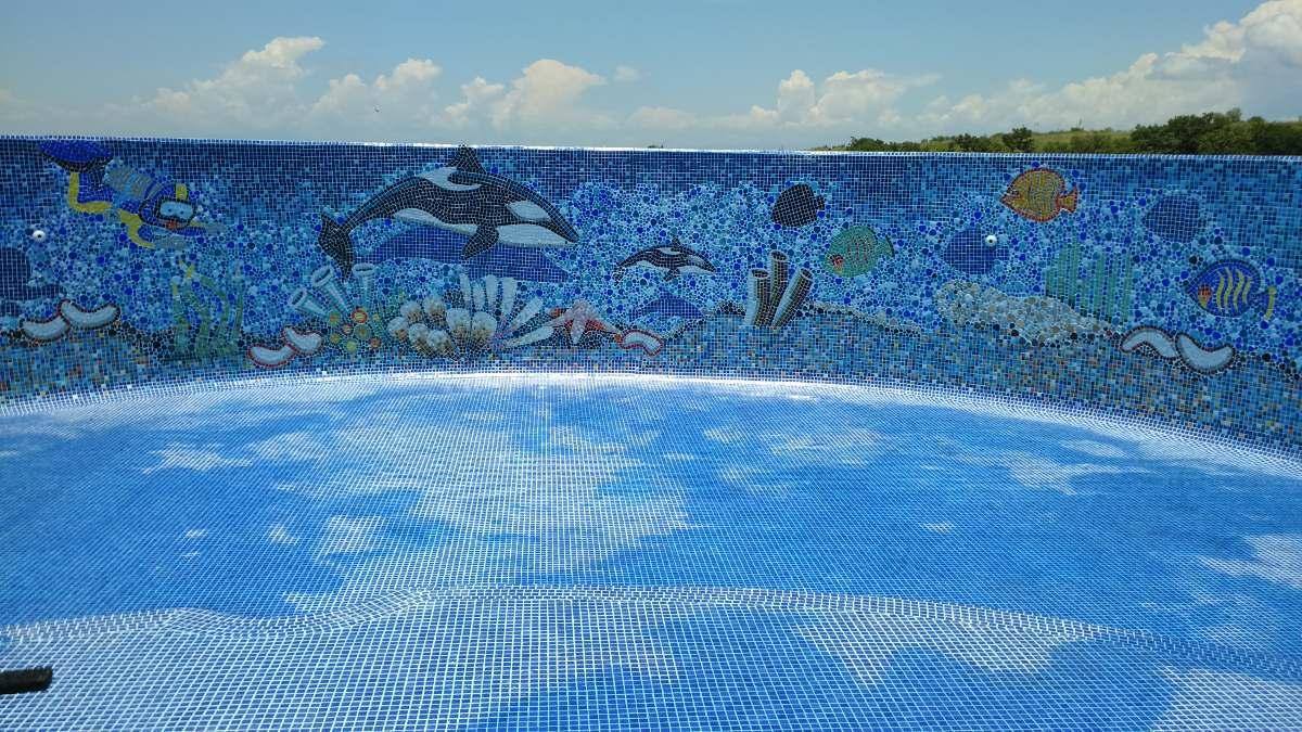 Mosaico Veneciano Pez Vela Nvo Modcon Sombra Para