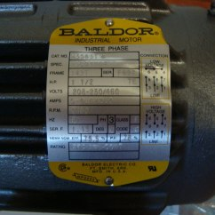 Baldor 5hp Motor Wiring Diagram Carrier Split System M3583t Nuevo De 1 5 Hp 220 440 Volts