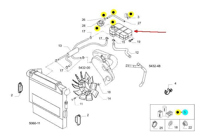 Reservatório Água Motor Iveco Daily 35s14/55c16 504136607