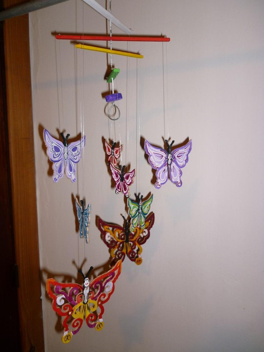 Mvil De Mariposas En Madera Calada   35000 en Mercado Libre