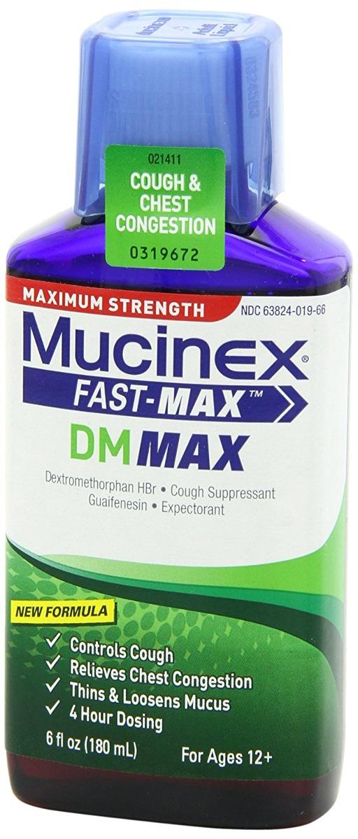 Mucinex Fast-max Dm Max Fuerza Tos Relief Liquid 6 Oz ...