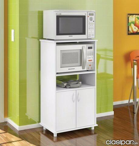 Mueble Auxiliar De Melamina 18mm Para Cocina En Color