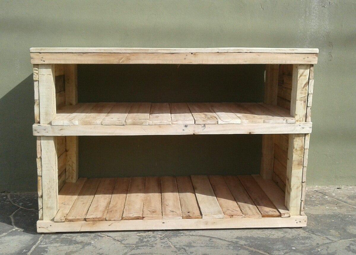 Mueble Bajo Mesada Mesa Auxiliar Cocina Madera Recuperada   175000 en Mercado Libre