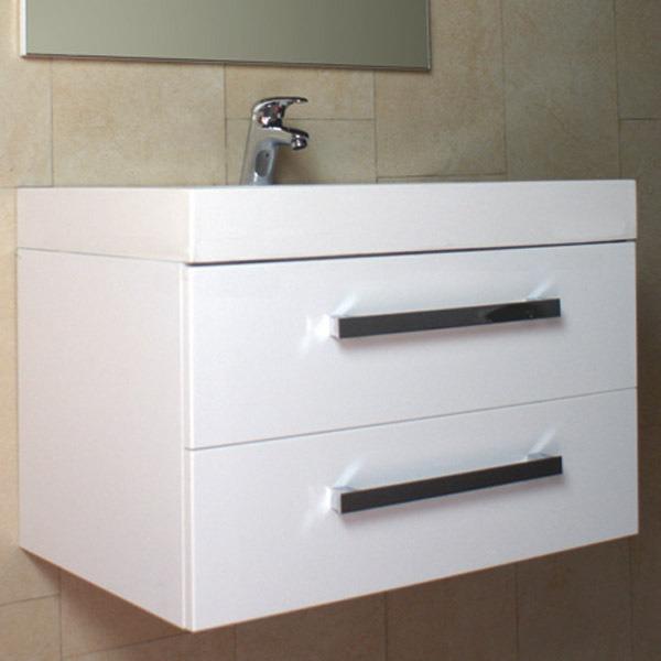 Mueble Para Bao Lugo 75 Blanco Bao Con Lavabo Y Espejo
