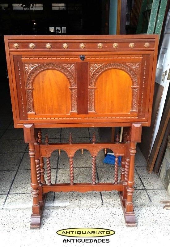 Mueble Bar Antiguo Estilo Salomonico Bargueo No Bahiut