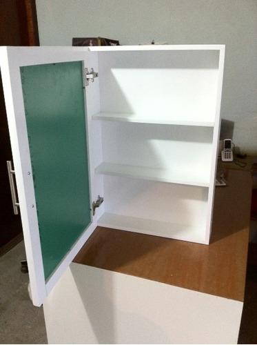 Mueble Botiquin Con Espejo Y Puerta Habatible Para Bao