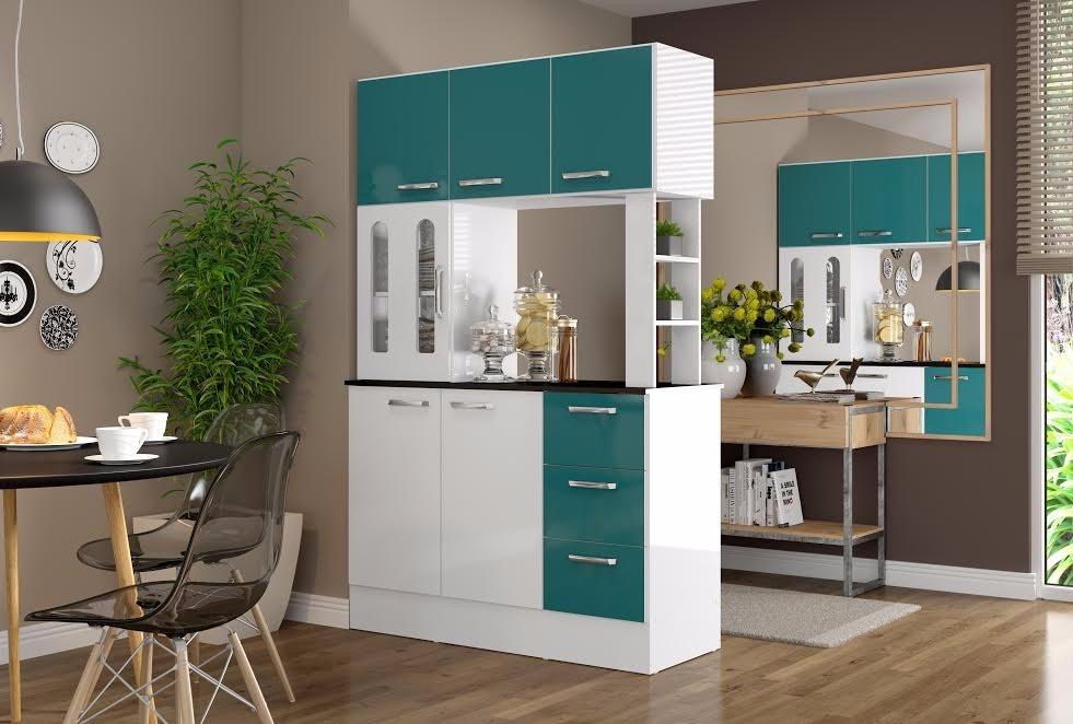 Mueble Cocina Americana Antonia Verde  Ikean   179900