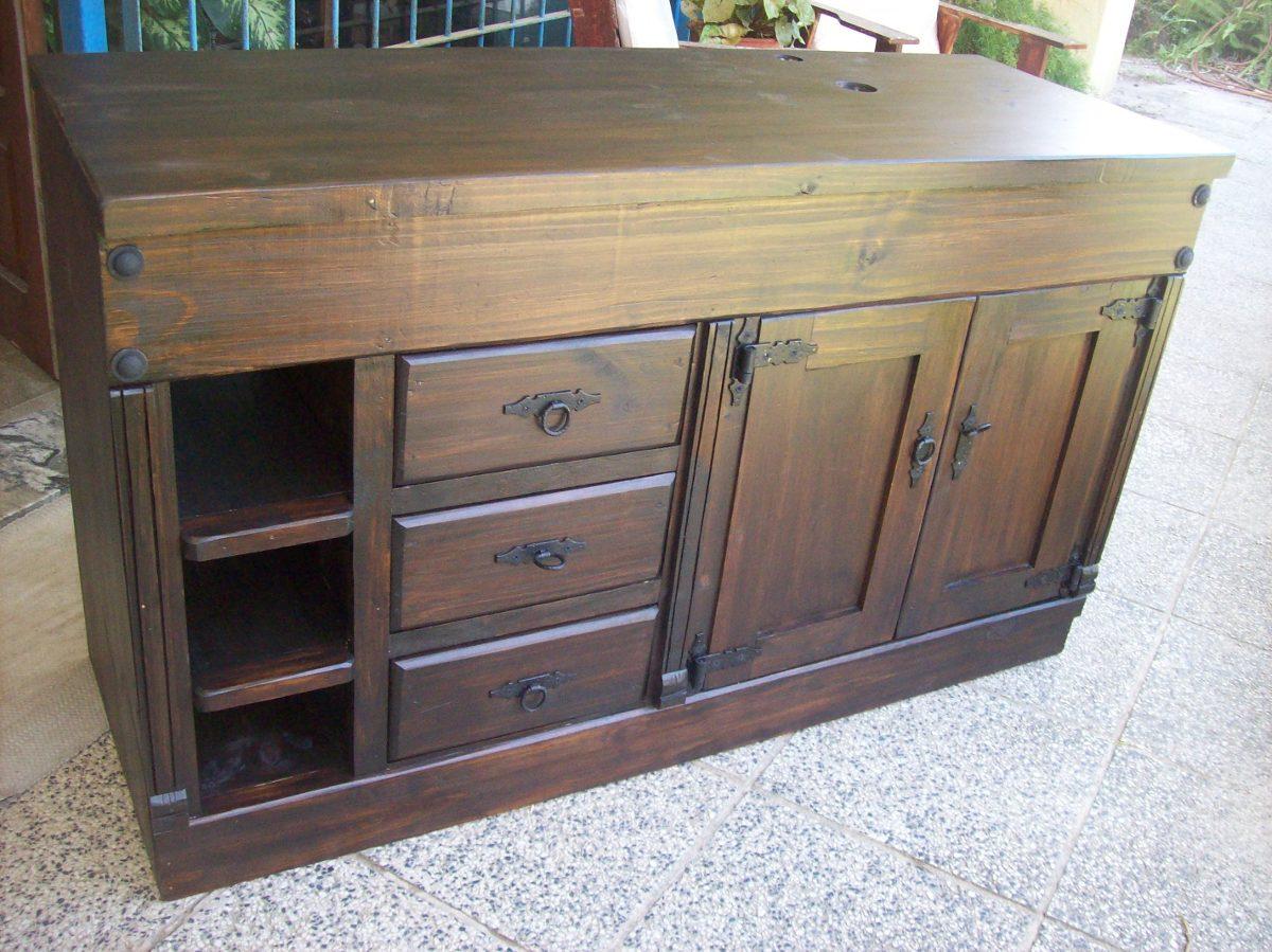 Muebles rusticos para tv for Muebles de bano walmart