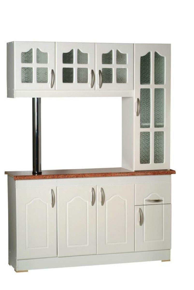 Mueble De Cocina Americano 3 Y 4 Cps Blanco Y Madera   140000 en Mercado Libre