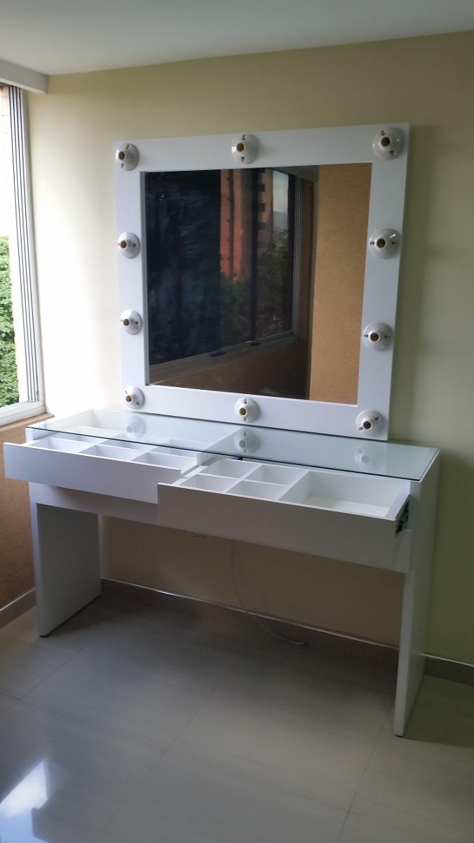 Mueble De Maquillaje Peinadora Moderna Con Vidrio  Bs