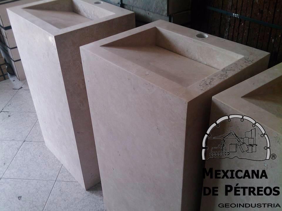 Mueble De Mrmol Beige Para Bao Con Lavabo Minimalista