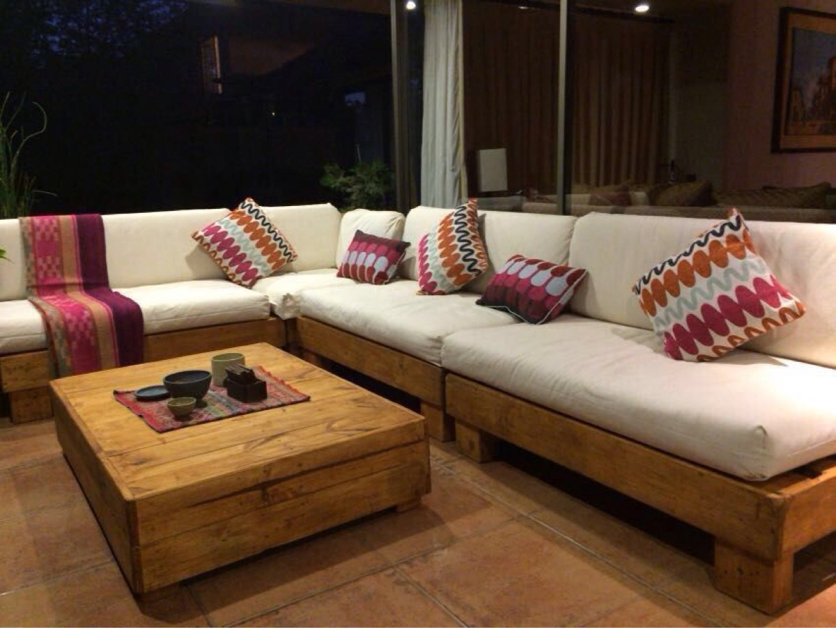 Mueble De Palet Pallets Terraza L   620000 en Mercado Libre