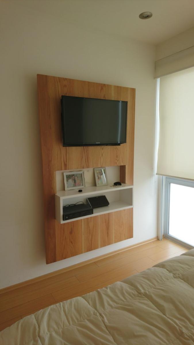 Mueble De Tv Empotrado Para Ocultar Cableado En Madera