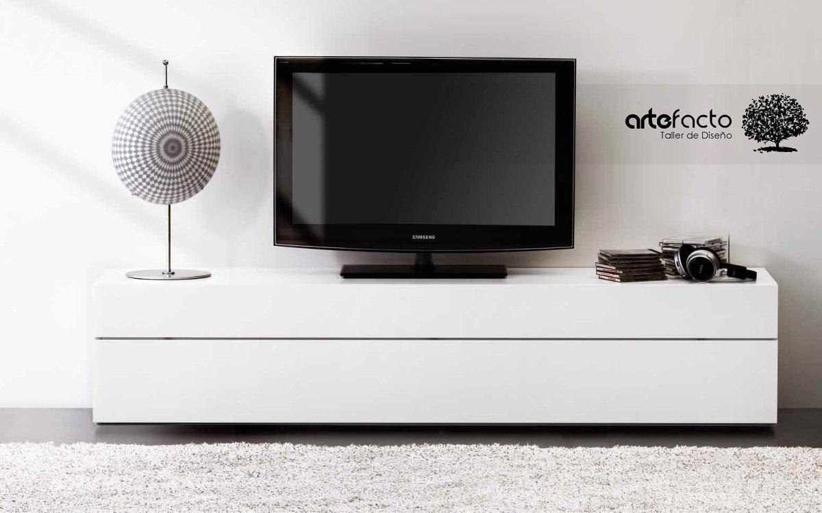 Mueble De Tv Minimalista Laca O Madera Para Pantalla Lcd Led   480000 en Mercado Libre