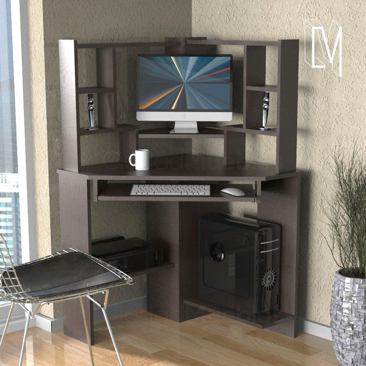 Mueble Esquinero Para Pc Escritorio Con Alzada   7190