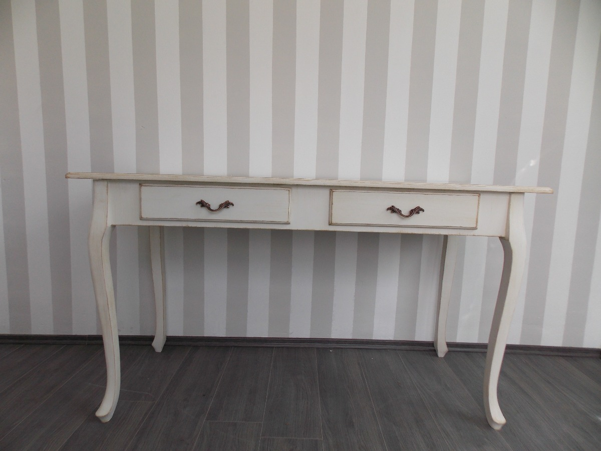 Mueble Decapado Blanco Escritorio Mueble Vintage Mesa Blanco Antiguo Decapado
