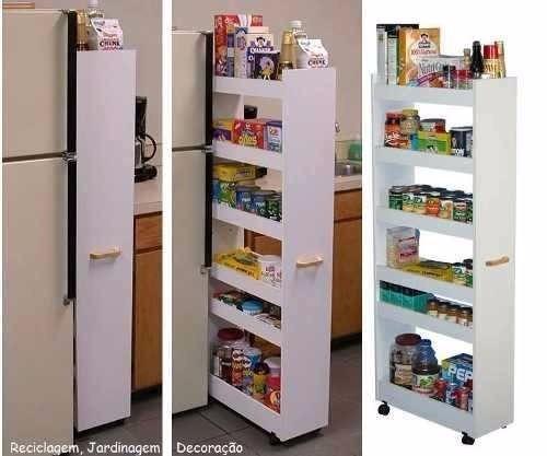 Mueble Organizador Multiuso Cocina Melamina Con Ruedas  S 23900 en Mercado Libre