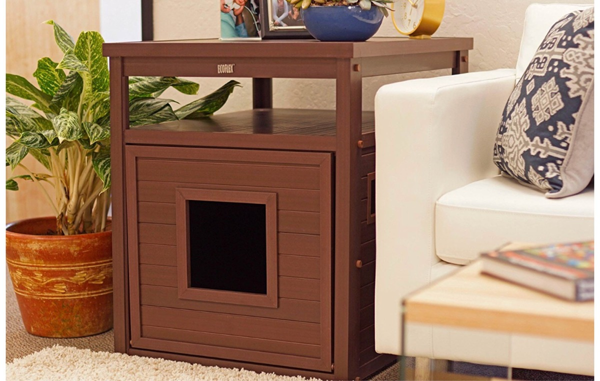 Mueble Para Casa O Arenero De Gato Discreto Chocolate