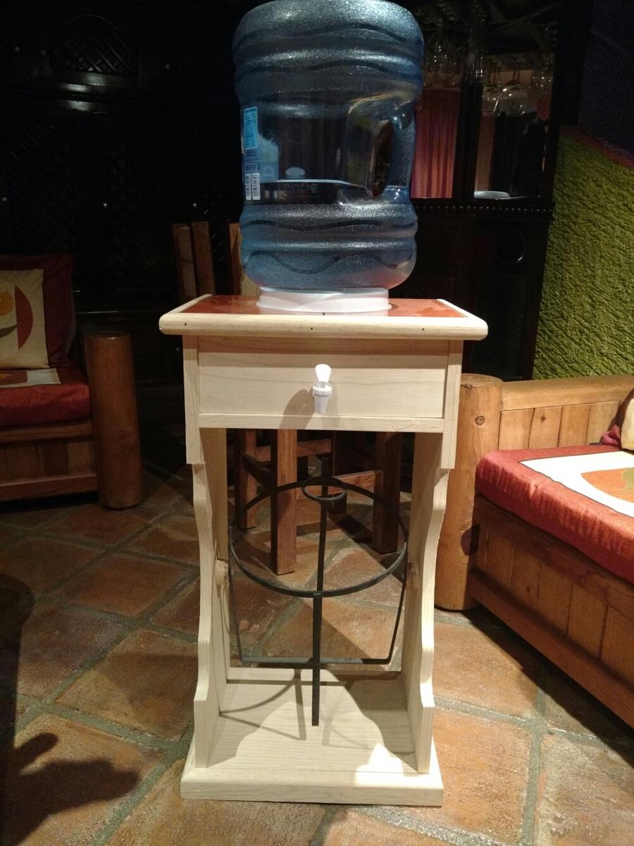 Mueble Para Dos Garrafones De Agua Madera Al Natural