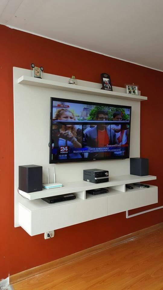 Mueble Rack Para Tv Centro De Entretenimiento En Melamina